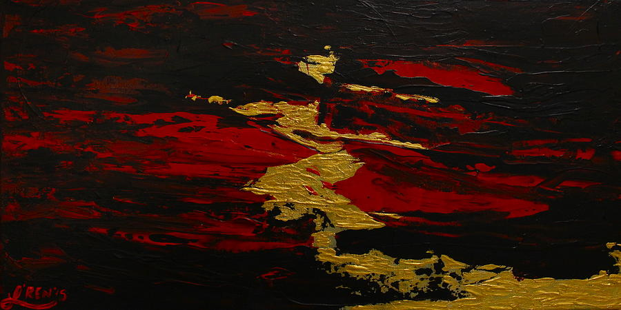 Abstract Painting - Anger Stole The Dance by Lren Knorr