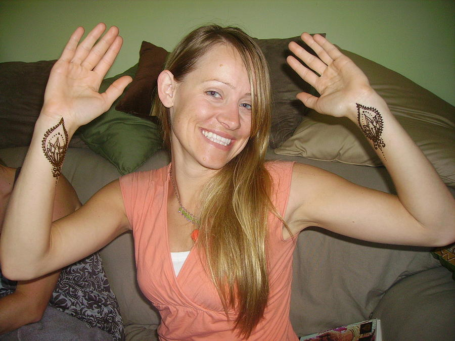 Henna Designs Drawing - Angies Lotus Wrists by Janet Gioffre Harrington