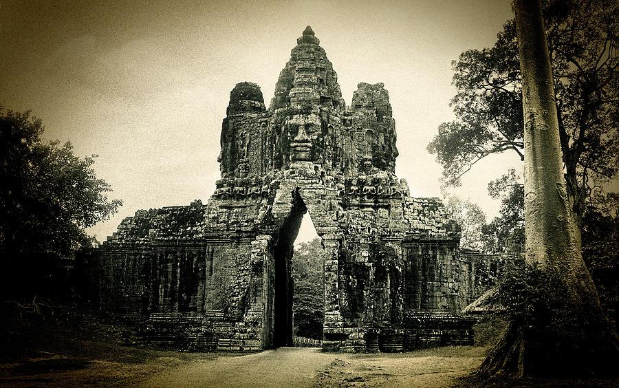 Angkor Thom Photograph - Angkor Thom Southern Gate by Weston Westmoreland