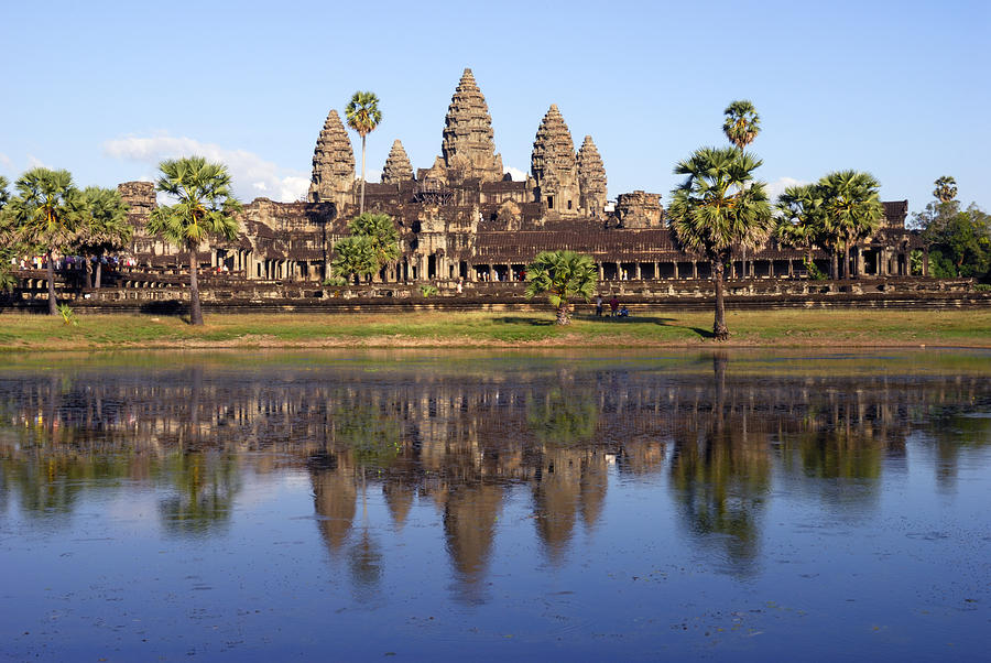 Travel Photograph - Angkor Wat by Liz Pinchen