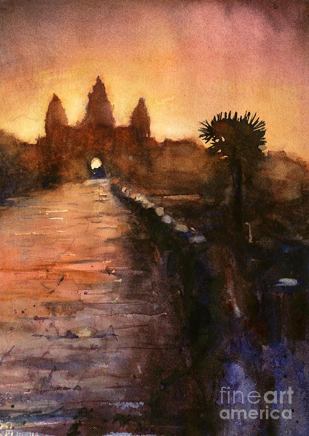 Angkor Wat Painting - Angkor Wat Sunrise 2 by Ryan Fox