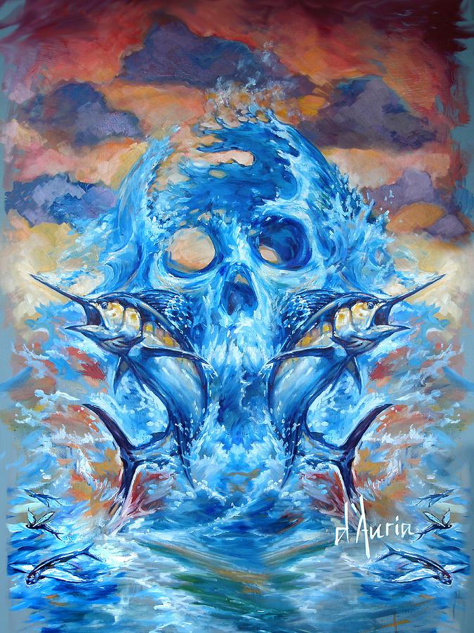 Marlin Painting - Angler Heat II by Tom Dauria