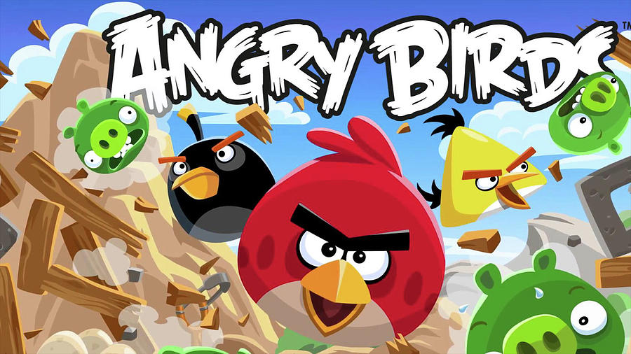 Angry Birds Digital Art - Angry Birds by Dorothy Binder