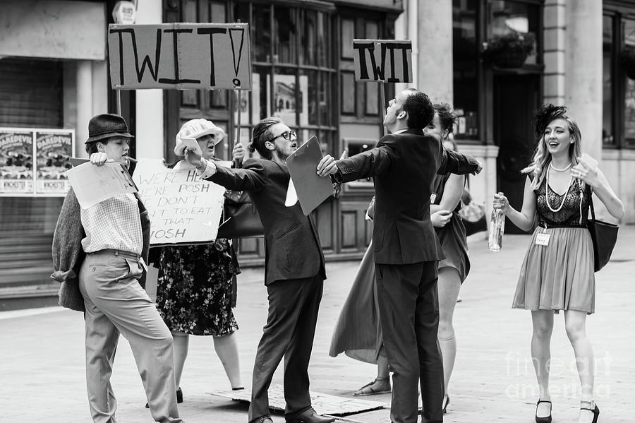 People Photograph - Angry Mob Demonstrating by Simon Bratt Photography LRPS