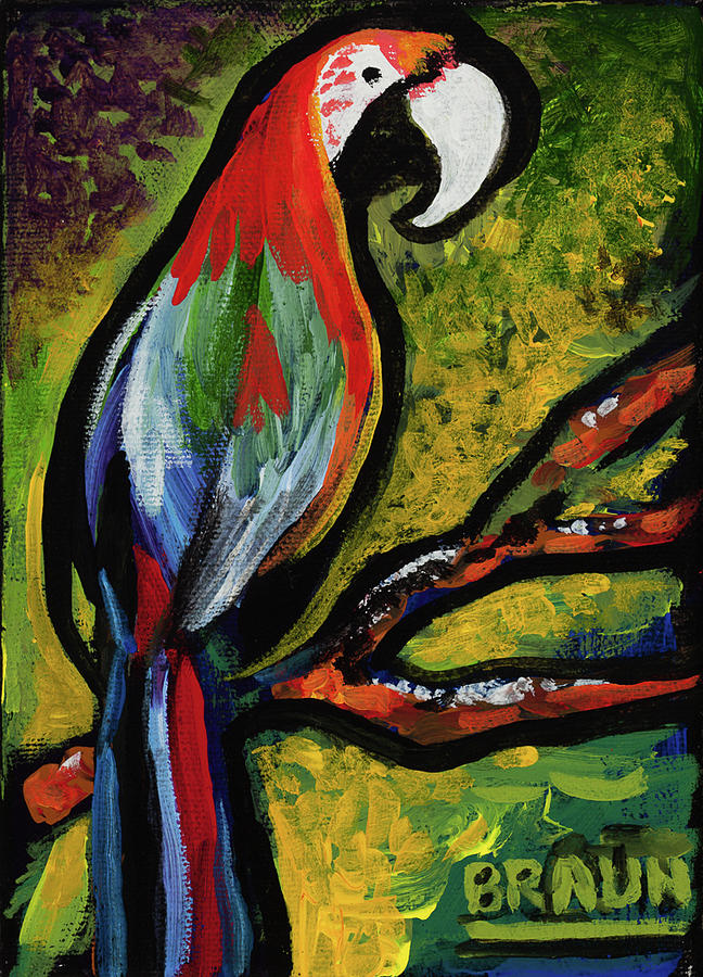 Parrot Painting - Angry Parrot by Beverly H Braun