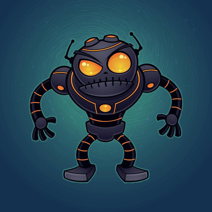 Angry Robot Digital Art