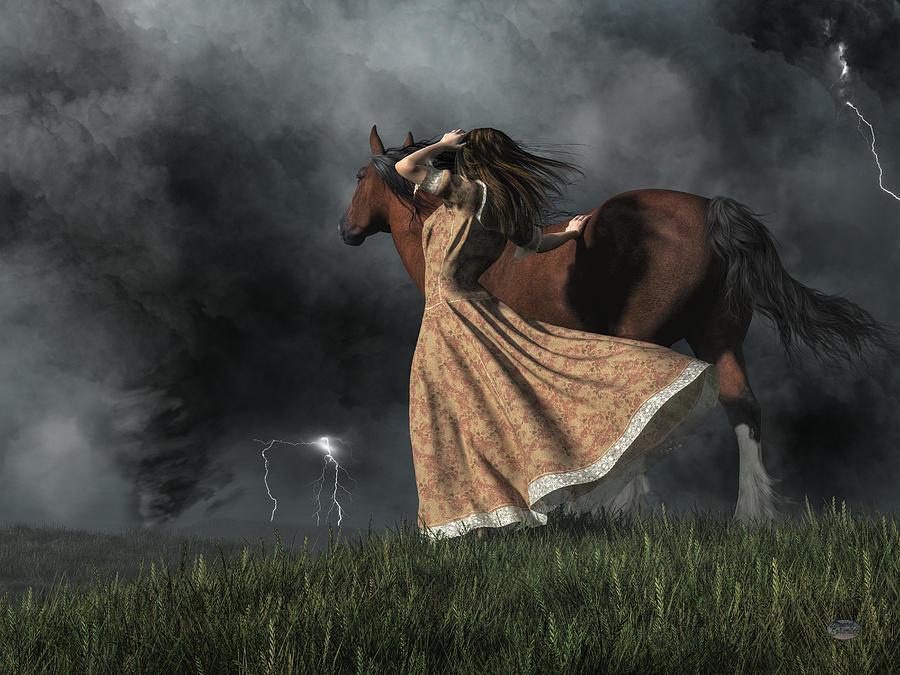 Tornado Digital Art - Angry Skies by Daniel Eskridge