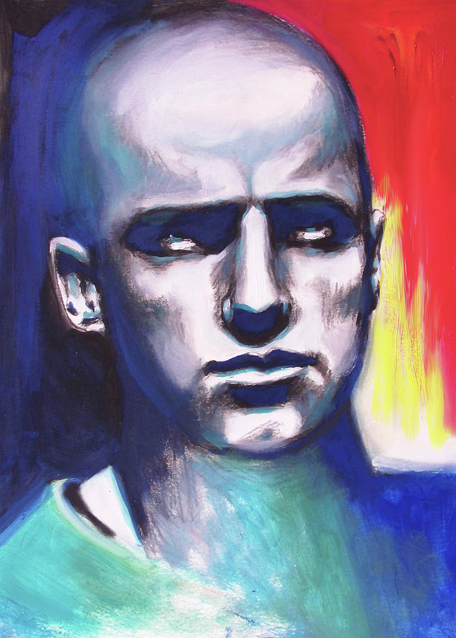 Figures Painting - Angry Young Man by Susi Franco