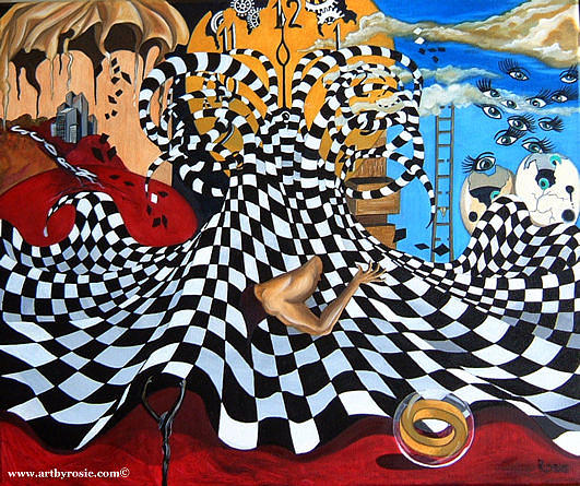 Surreal Painting - Angst by Rosie Harper