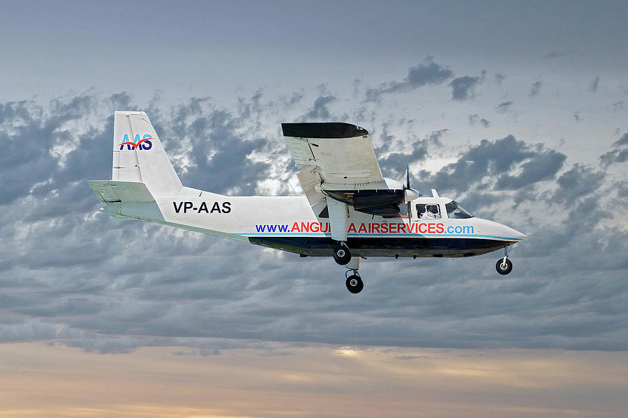 Anguilla Photograph - Anguilla Air Services Britten-norman Bn-2a-26 Islander 113 by Smart Aviation