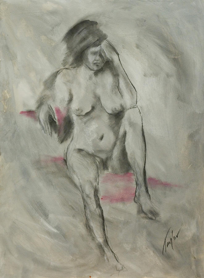 Nude Painting - Anguish by Sandra Taylor-Hedges