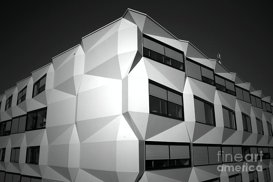 Black And White Photograph - Angular Architecture by Robert Peterson