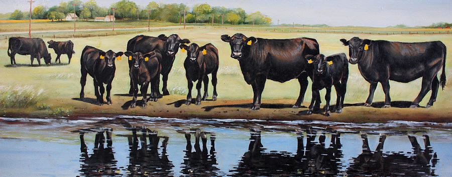 Angus Painting - Angus Reflections by Toni Grote