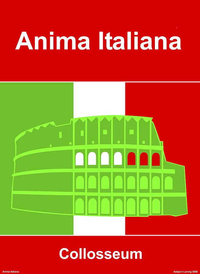 Anima Digital Art - Anima Italiana by Asbjorn Lonvig