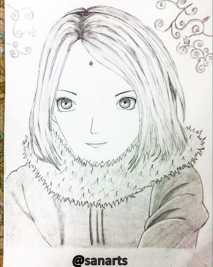 Sketch Drawing - Anime Drawing  by Sanchit Sharda