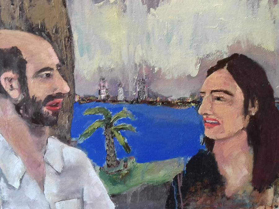 Anita And I Painting by Ross Keegan
