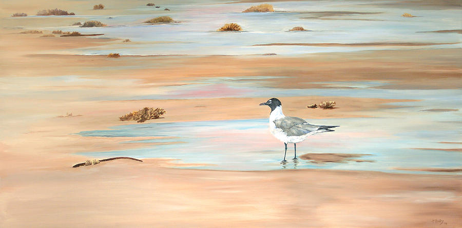 Sea Gull Painting - Ankle Deep by Kathie Henry