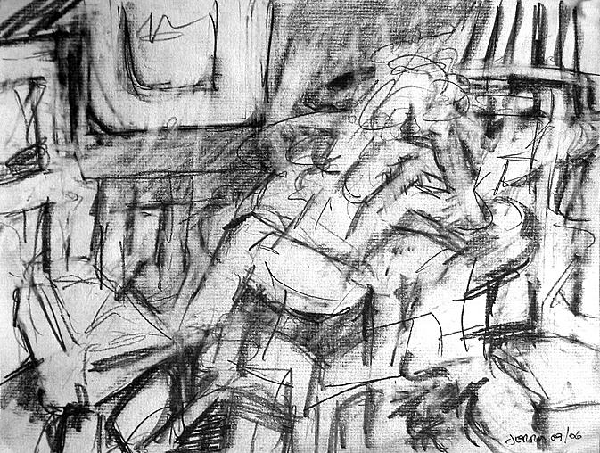 Figure Drawing - Ann In Chair by Jerry Engelbach