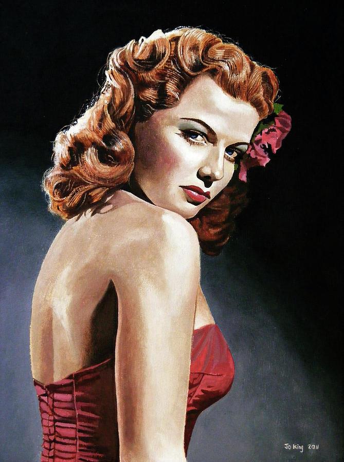 Portrait Painting - Ann Sheridan by Jo King