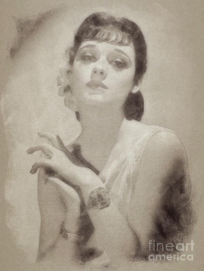 Ann Southern Vintage Actress Drawing