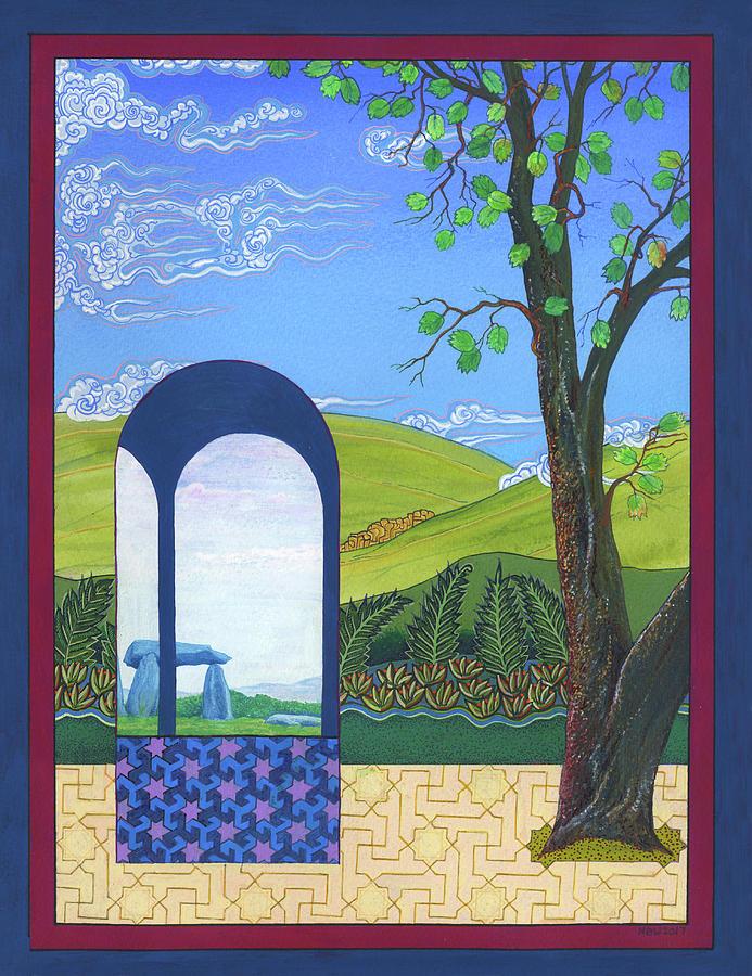 Shaman Painting - Ann Winns Garden by Nicholas Breeze Wood