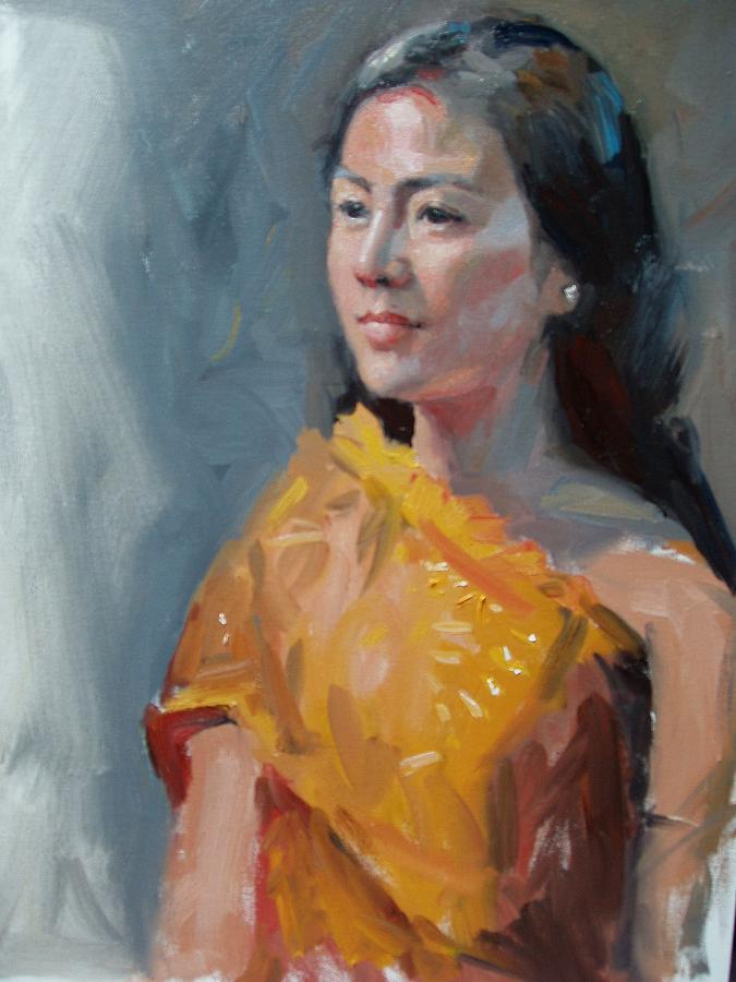 Portrait Painting - Anna by Dianne Panarelli Miller