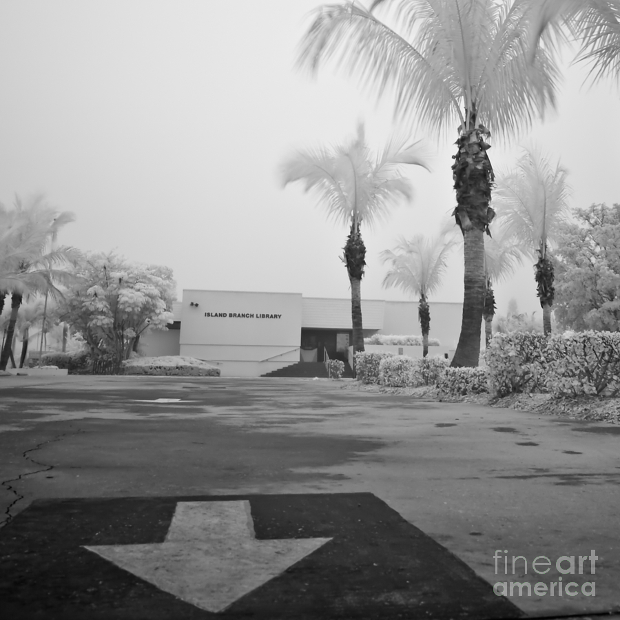 Anna Maria Island Photograph - Anna Maria Island Branch Library In Fog Infrared 50 by Rolf Bertram