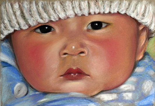 Portrait Painting - Anna Meng by Mary Smith