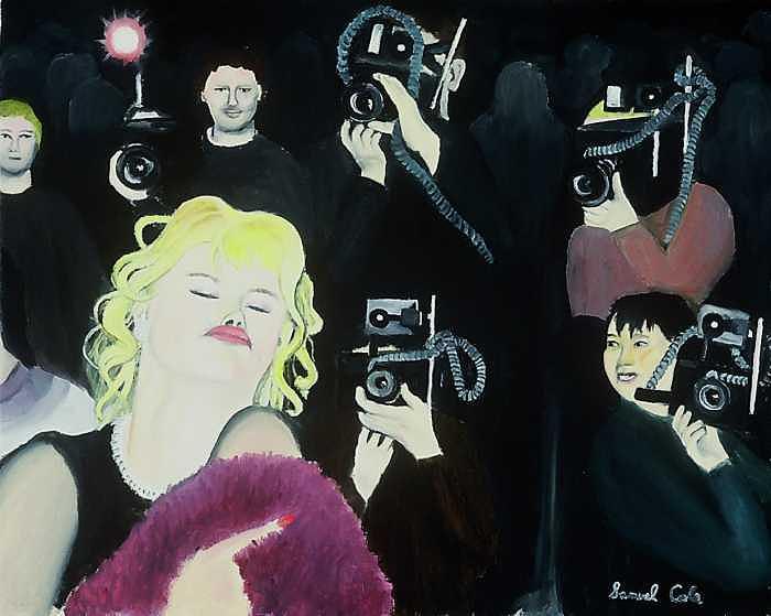 Anna Nichole Painting by Sam  Cole