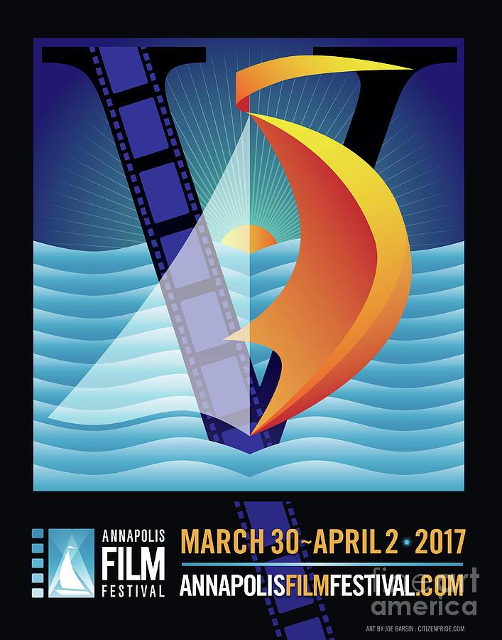 Art Deco Digital Art - Annapolis Film Festival 2017 by Joe Barsin