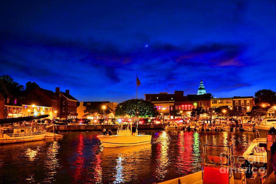 Annapolis Photograph - Annapolis Magic Night by Olivier Le Queinec