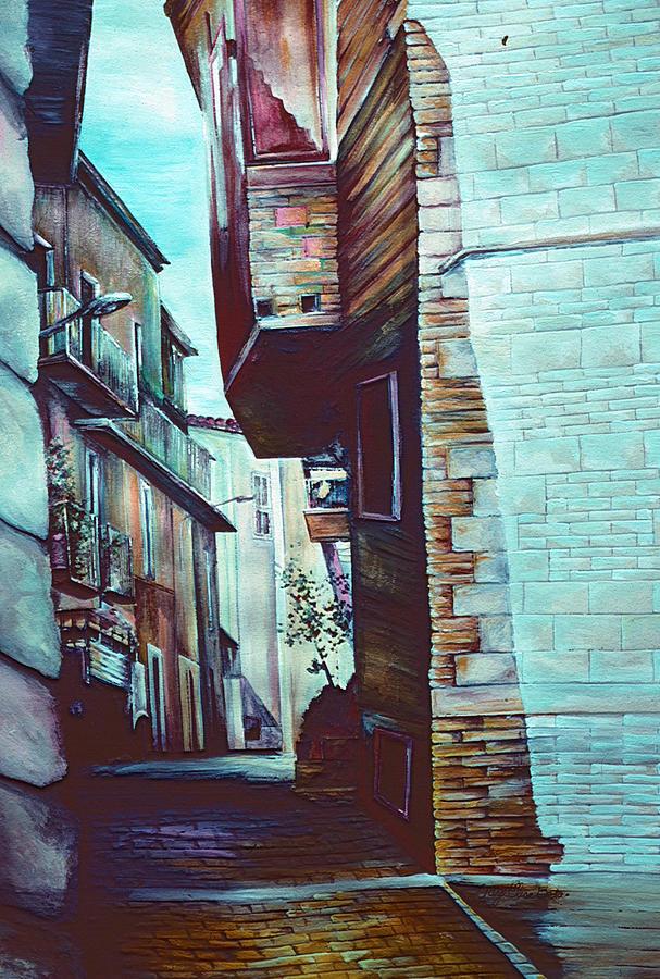 Italy Painting - Annas Street by Gaye Elise Beda
