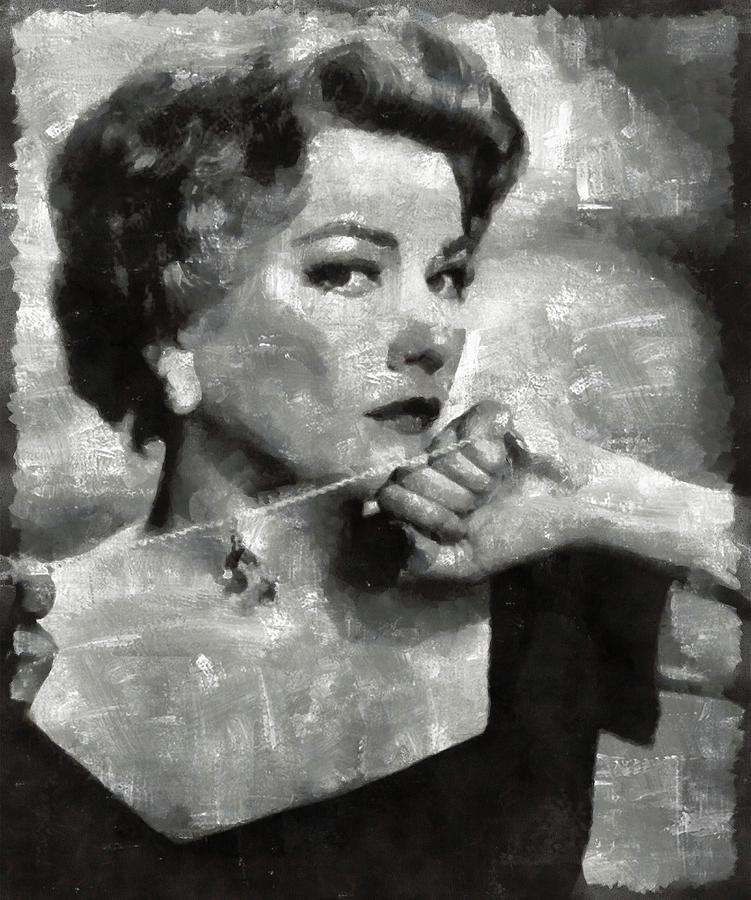 Anne Painting - Anne Baxter Vintage Hollywood Actress by Mary Bassett