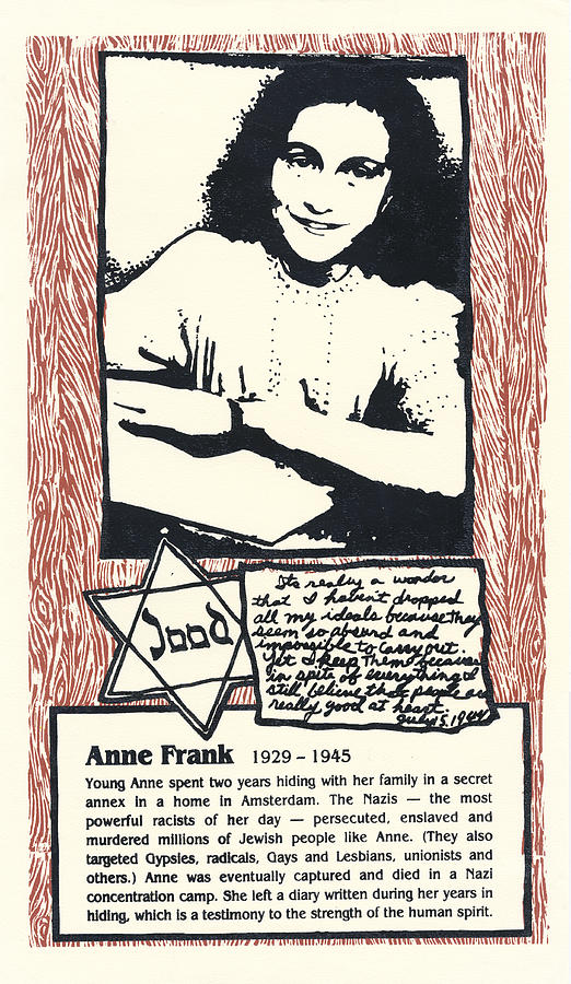 Anne Frank Mixed Media - Anne Frank by Ricardo Levins Morales