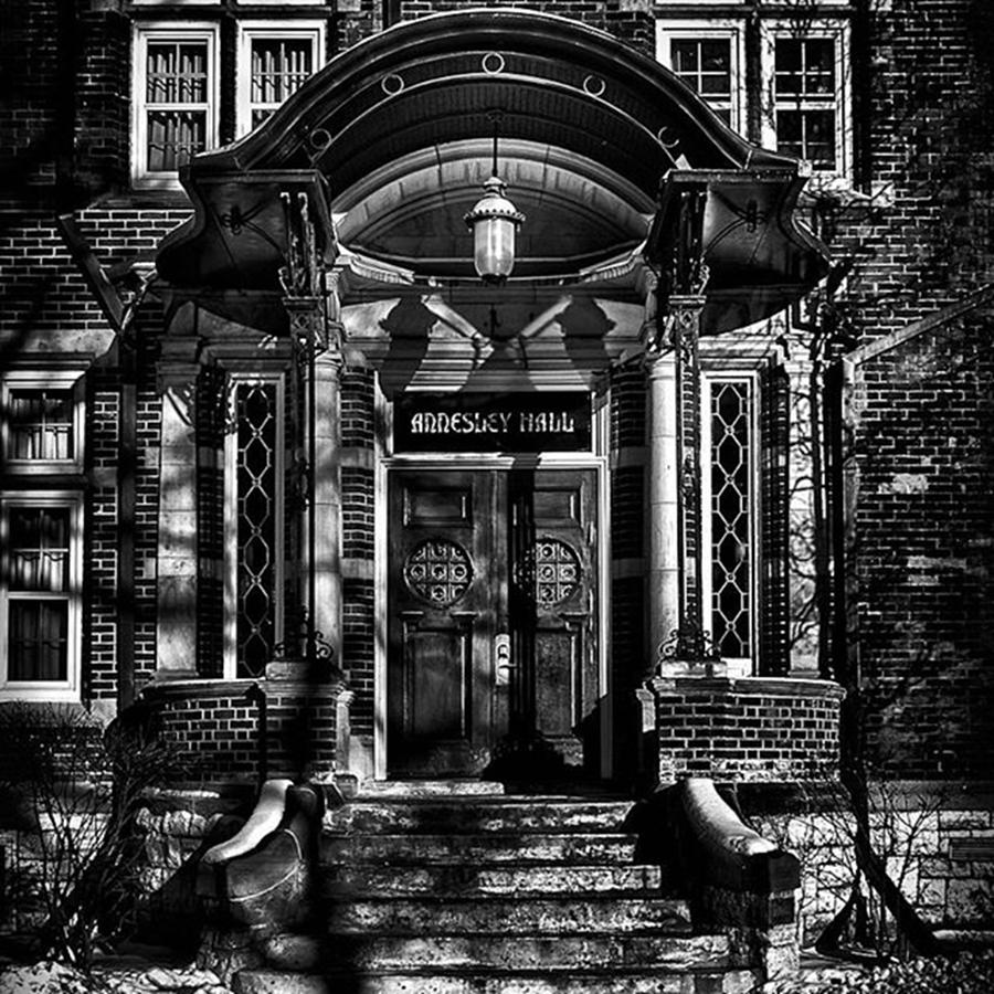 Toronto Photograph - Annesley Hall Entrance  #toronto by Brian Carson