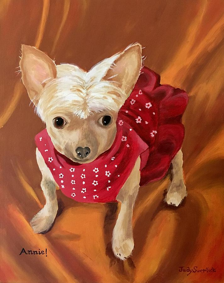 Dog Painting - Annie by Judy Swerlick