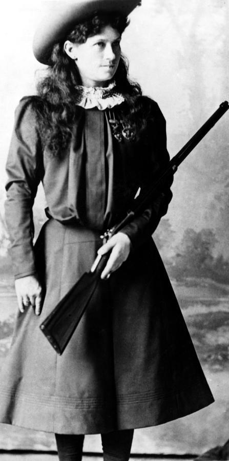 Cowgirl Photograph - Annie Oakley, Aka Phoebe Anne Oakley by Everett