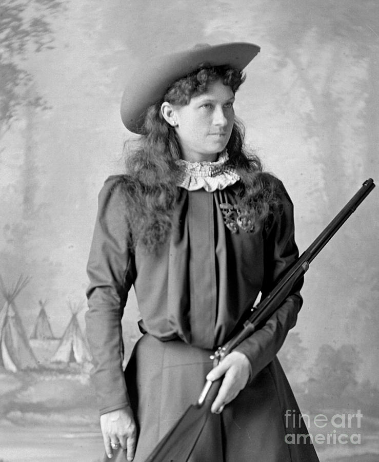 Annie Oakley Photograph - Annie Oakley by David Frances Barry