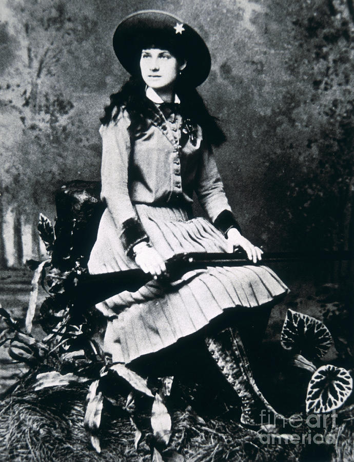 Star Photograph - Annie Oakley  Star Of Buffalo Bills Wild West Show by American School