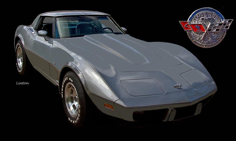 Chevrolet Corvette Photograph - Anniversary Corvette by Larry Linton