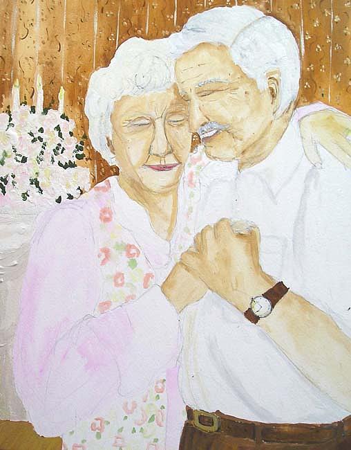 Figure Painting - Anniversary by Melinda Kordich