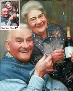 Portrait Painting - Anniversary Oil Painting Custom Oil Portrait Based On Your Photo by Les Moments