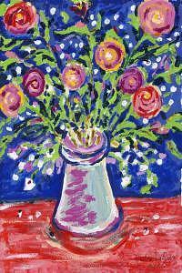 Flowers Digital Art - Anniversary Roses by Debra LaBar