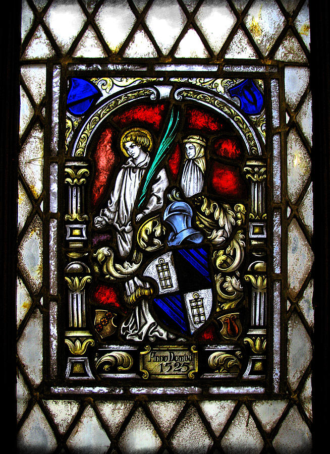 Stained Glass Photograph - Anno Domini  by Colleen Kammerer