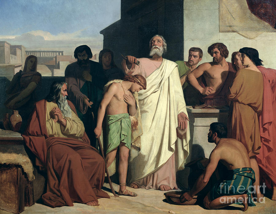 Annointing Painting - Annointing Of David By Saul by Felix-Joseph Barrias