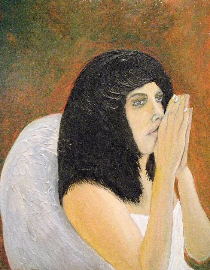 Annolita Praying Painting by J Bauer