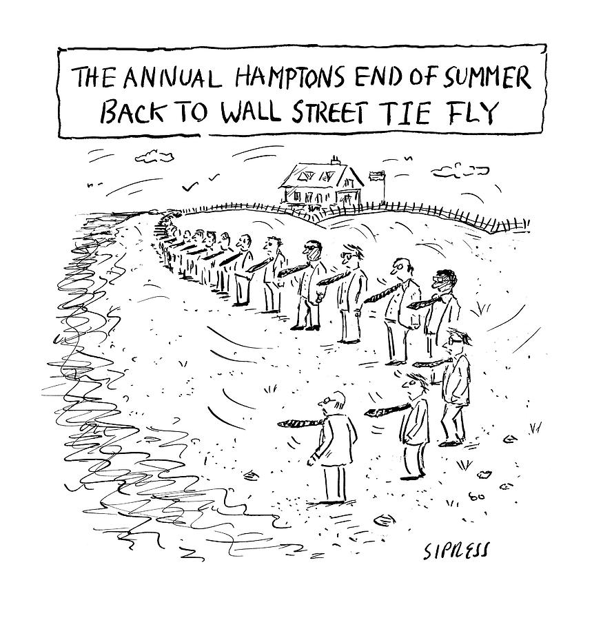 Annual Hamptons End of Summer Drawing by David Sipress