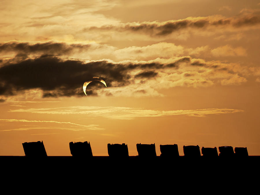 Astronomy Photograph - Annular Eclipse over Cadillac Ranch by Scott Cordell