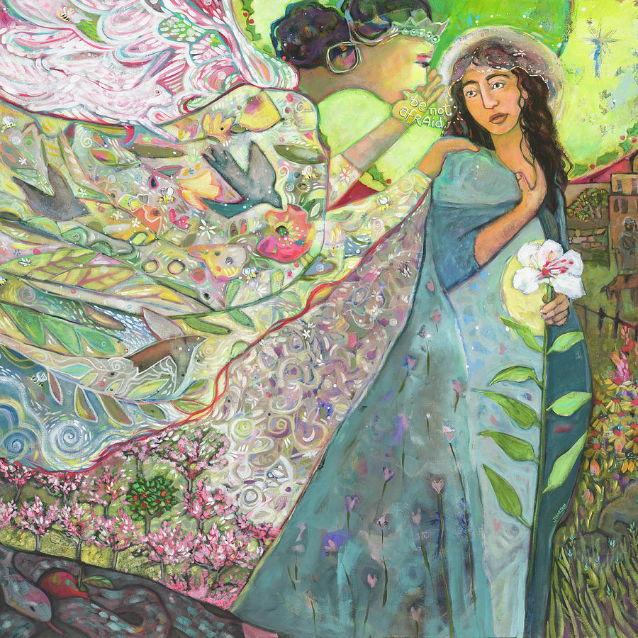 Annunciation Painting - Annunciation by Jen Norton