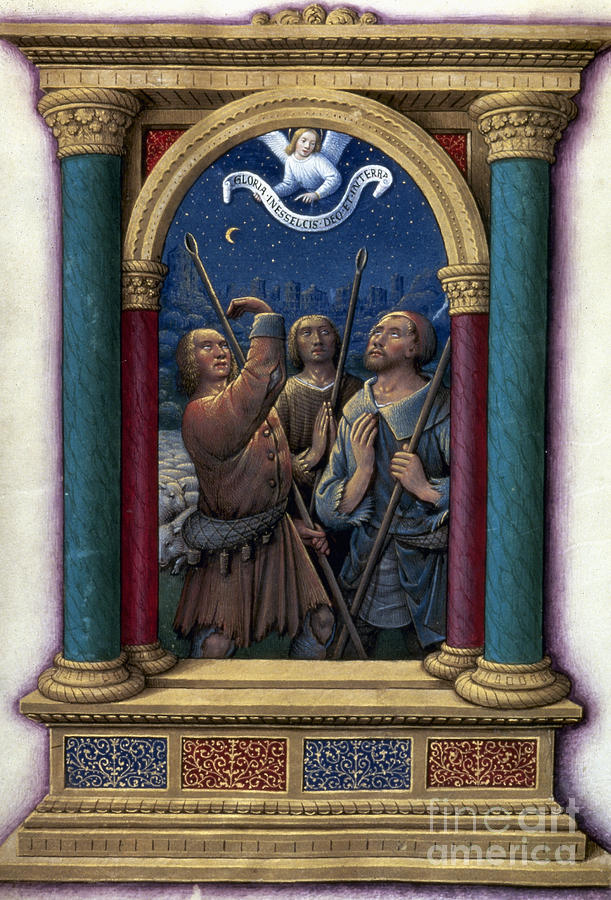 1510 Photograph - Annunciation To Shepherds by Granger